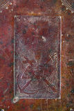 αρχαία κάλυψη ΧΙΧ αιώνα Βίβλων Στοκ Φωτογραφίες