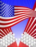 предпосылка патриотические США Стоковые Изображения