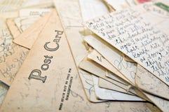 堆明信片 图库摄影