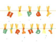 γενέθλια ευτυχή Στοκ Εικόνα