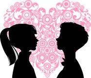 爱恋的人妇女 免版税图库摄影
