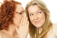 κορίτσια κουτσομπολεύοντας δύο Στοκ Εικόνες