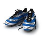 橄榄球鞋子 免版税库存照片