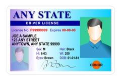лицензия тождественности водителя карточки Стоковое фото RF