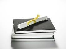 стог диплома книг Стоковое Изображение RF
