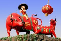 中国黄牛年 免版税库存照片