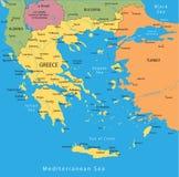 вектор карты Греции Стоковое Изображение RF