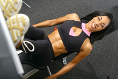健身行程新闻 库存图片