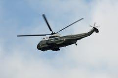 总统直升机的海军陆战队员一 图库摄影