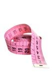 измеряя розовая лента Стоковые Фото