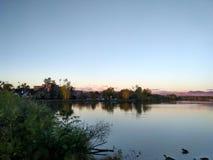 湖 库存照片