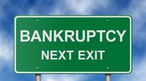 знак выхода банкротства следующий Стоковое Изображение RF