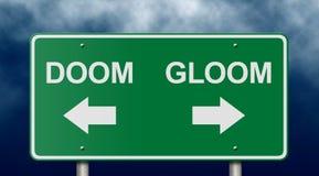 дорожный знак мрака обречения Стоковые Фото