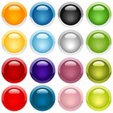 стекловидные иконы Стоковые Изображения RF