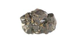 背景查出磁铁矿矿物白色 图库摄影
