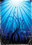 свет сини предпосылки Стоковая Фотография RF