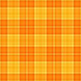 橙色格子花呢披肩黄色 免版税库存图片