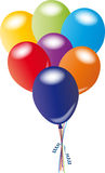Пук воздушных шаров Стоковые Изображения RF