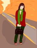 девушка сентябрь Стоковые Изображения RF