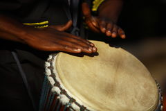 非洲鼓手 免版税库存图片