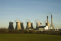 埋没煤炭发电厂 库存图片
