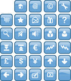 按钮互联网万维网 图库摄影