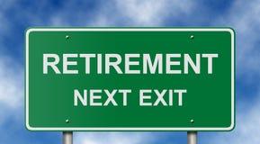 дорожный знак выхода на пенсию Стоковое фото RF