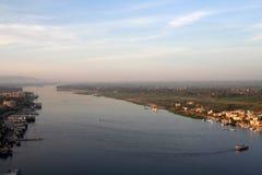 空中高的尼罗河视图 免版税库存图片