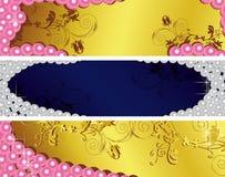 установленные перлы Стоковое Изображение