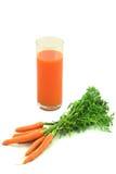 сок моркови свежий Стоковые Изображения