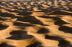离开失去的撒哈拉大沙漠 库存图片