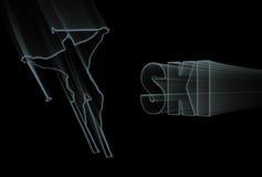 蓝色滑雪 免版税库存图片