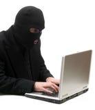 黑客键入 免版税库存照片