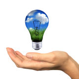 可延续能源的伸手可及的距离 图库摄影