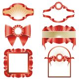 设计红色丝带 免版税库存图片