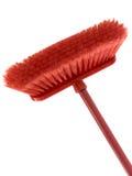 κόκκινο σκουπών Στοκ εικόνα με δικαίωμα ελεύθερης χρήσης