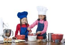 儿童烹调 库存图片