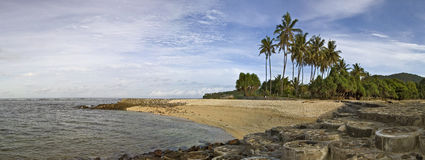 панорама пляжа Стоковое Изображение