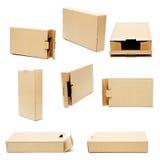 配件箱纸板收集 库存照片