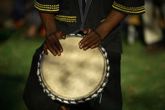 非洲鼓手 库存图片