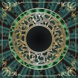 золото рамки круглое Стоковое фото RF