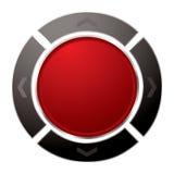 направление кнопки Стоковое Фото