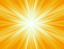 излучать желтый цвет лучей Стоковые Фотографии RF