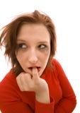 пакостная женщина состава Стоковое Фото