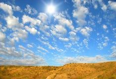 μπλε ουρανός ερήμων Στοκ φωτογραφίες με δικαίωμα ελεύθερης χρήσης