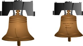 вольность иллюстрации колокола Стоковые Изображения RF