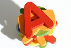 五颜六色的信函 免版税库存图片