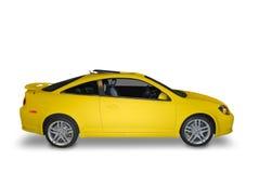 желтый цвет автомобиля компактный Стоковое Изображение