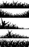 передние планы толпы Стоковое Изображение