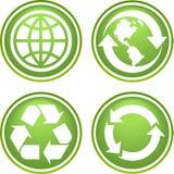 Ανακυκλώστε τα εικονίδια Στοκ Εικόνες
